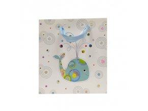 Dárková taška GOLDBUCH 18x18 cm, Whale Senerity