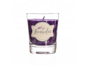 Vonná levandulová svíčka ve skle 170g BLNC791 BYLINCA