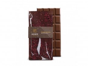 Mléčná čokoláda s drcenými lyofilizovanými malinami a ostružinami 85g BLNC827 BYLINCA