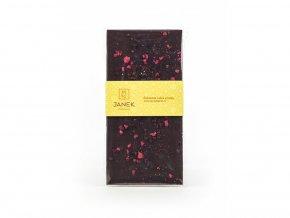 Hořká čokoláda s drcenými lyofilizovanými malinami a ostružinami 85g BLNC828 BYLINCA