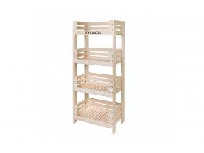 Regál dřevěný 150 x 64 x 39 cm BLNC980 BYLINCA