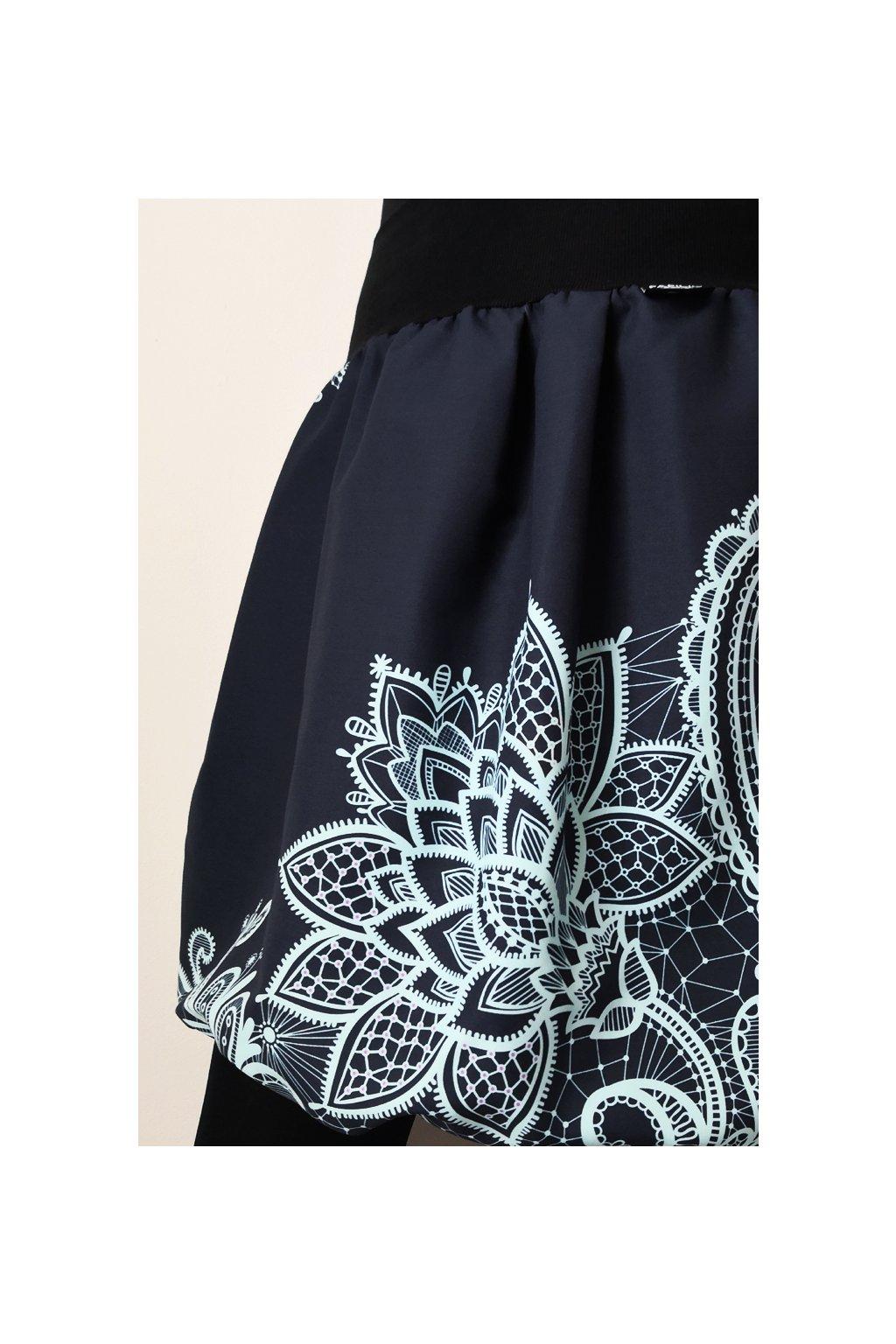 Balonová sukně Krajka mint - antracit| micropeach