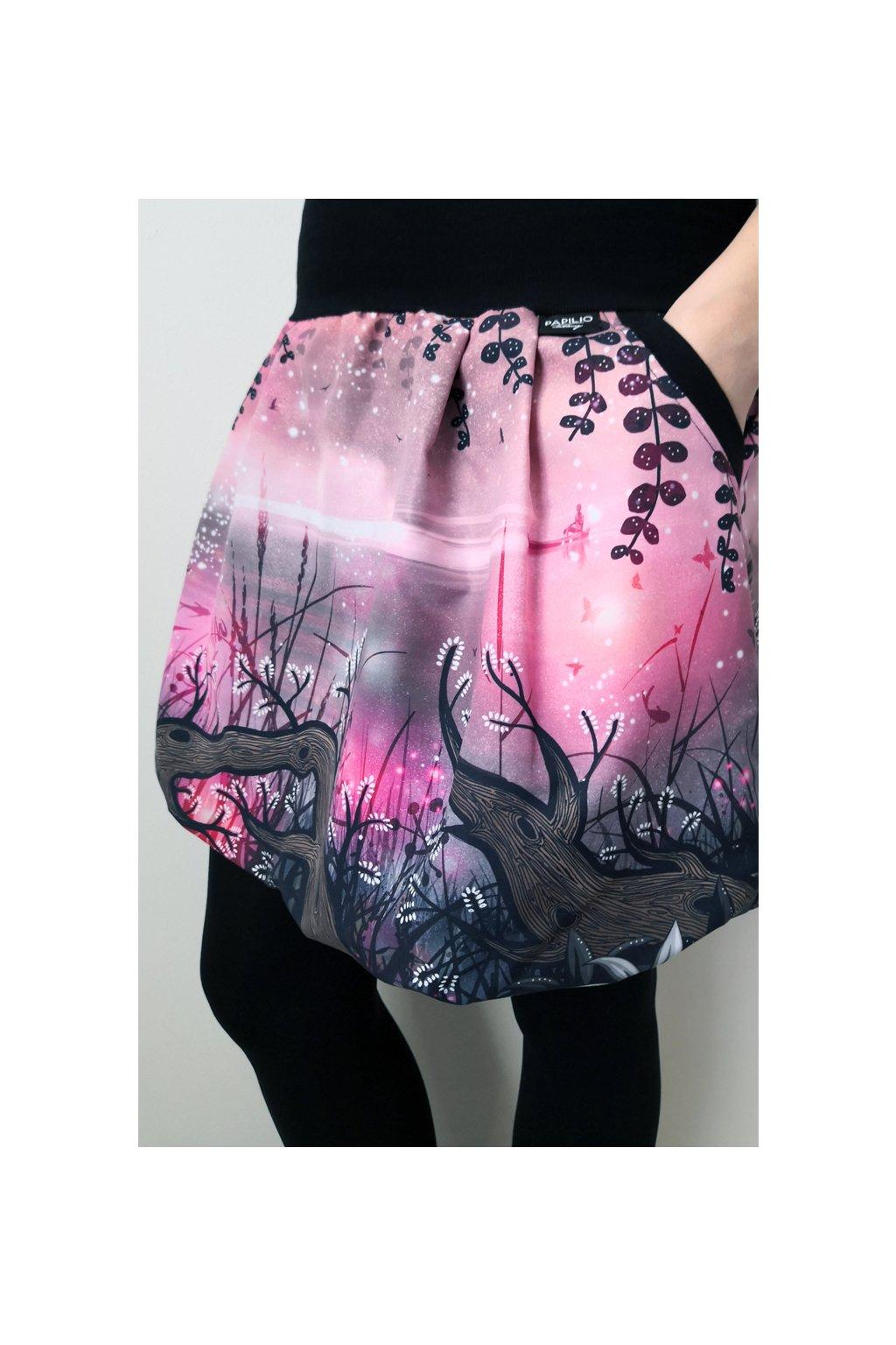Balonová sukně Vrbičková - růžová| micropeach