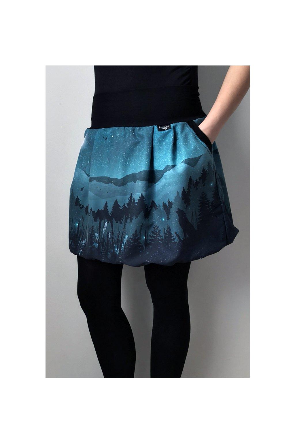 SKLADEM - balonová sukně Vlk   polyester