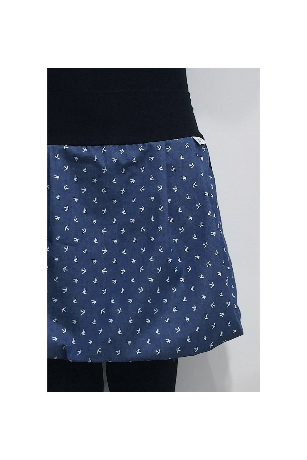 SKLADEM - balonová sukně Vlaštovky   denim