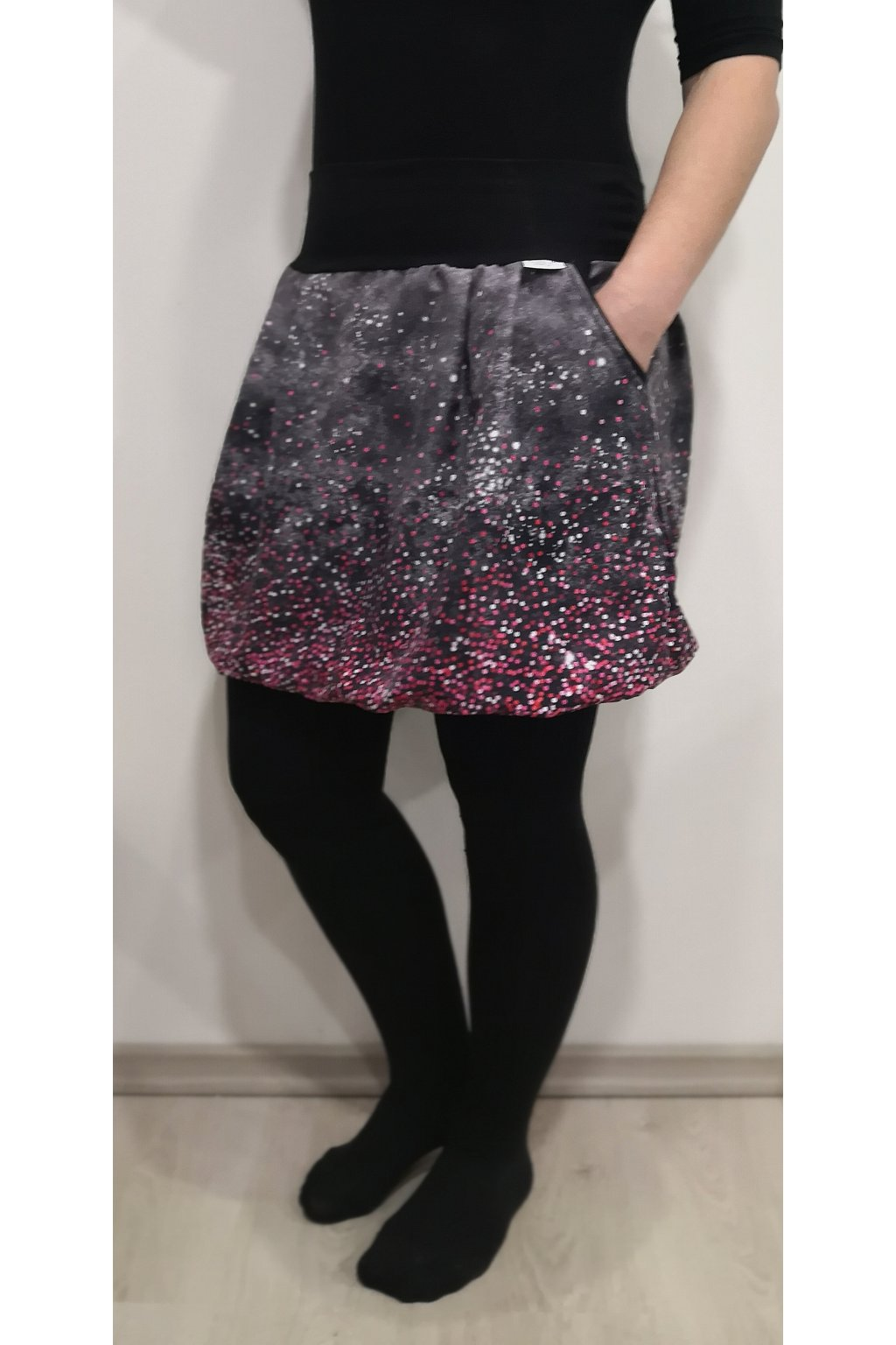 balonova sukne puntiky ruzove papilio clothing (1)