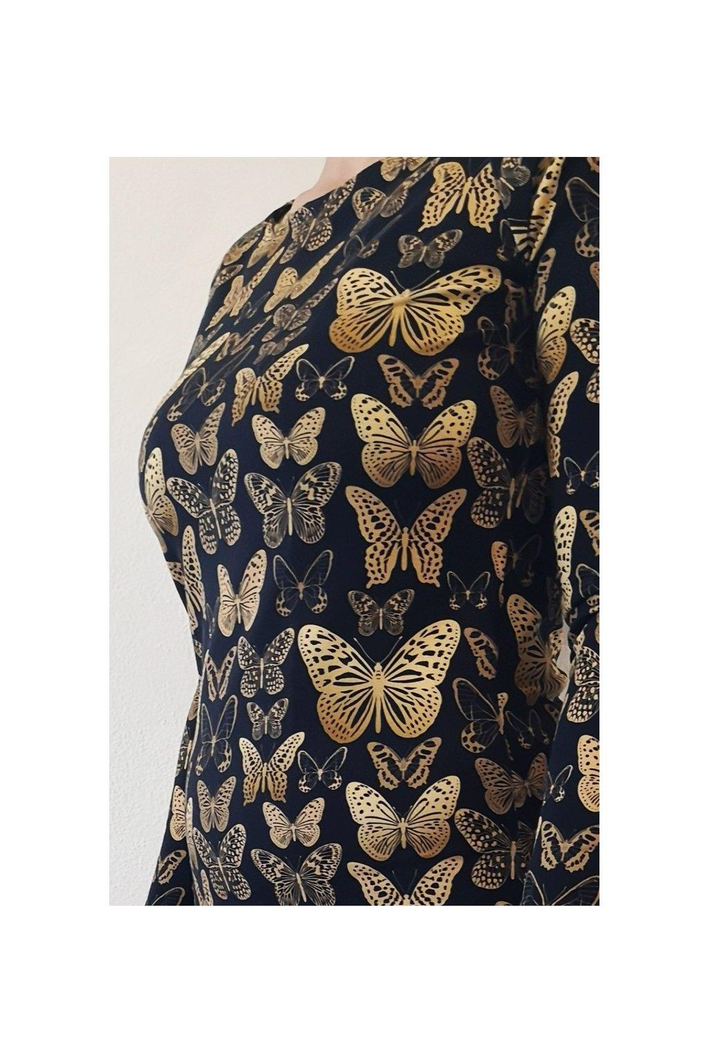 Šaty Zlatí motýlci | úplet
