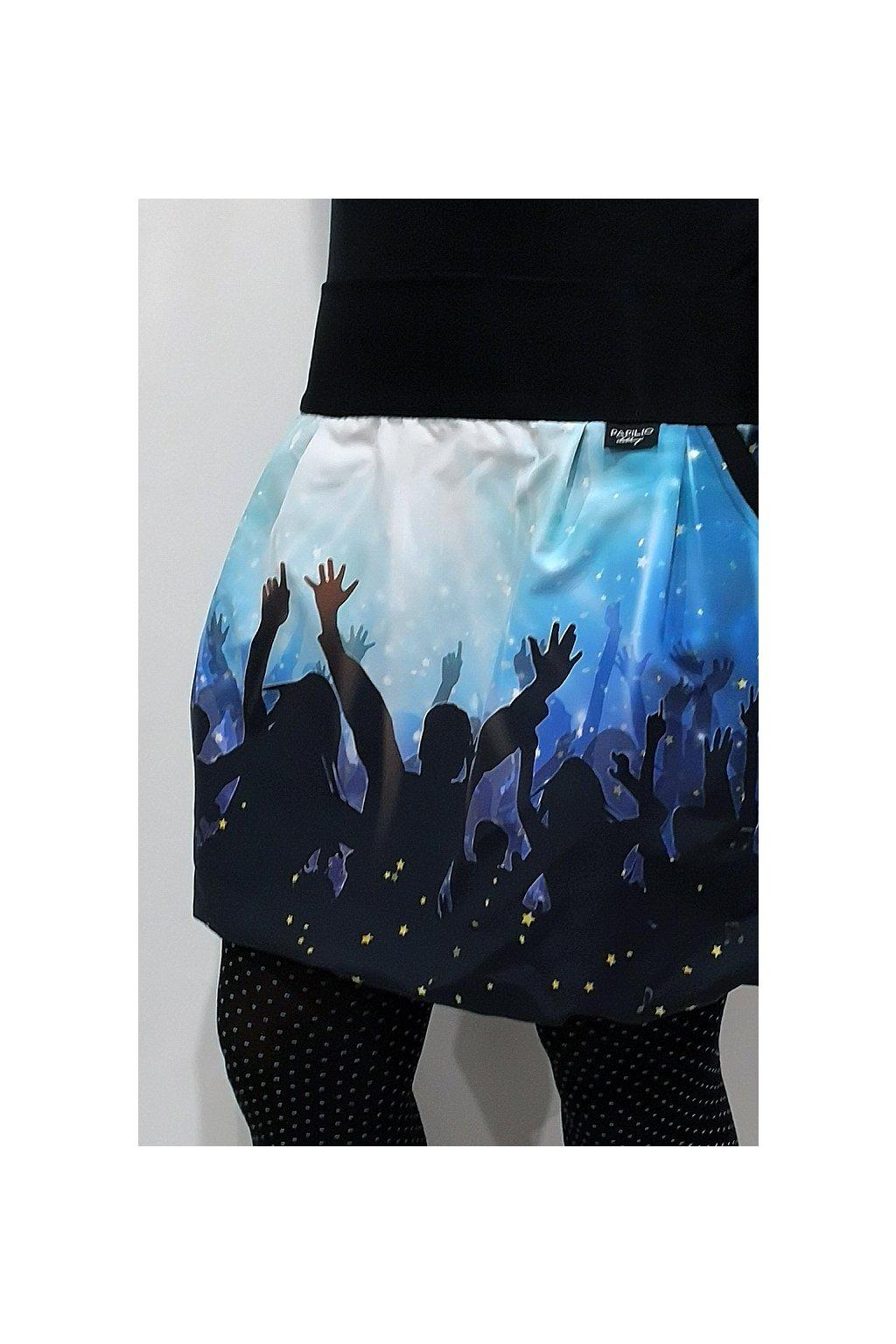 Balonová sukně Párty... modrá | micropeach