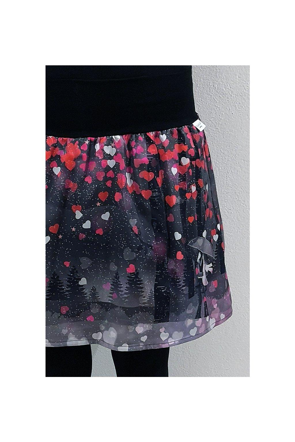 Áčková sukně Valentýnské setkání I. | plátno