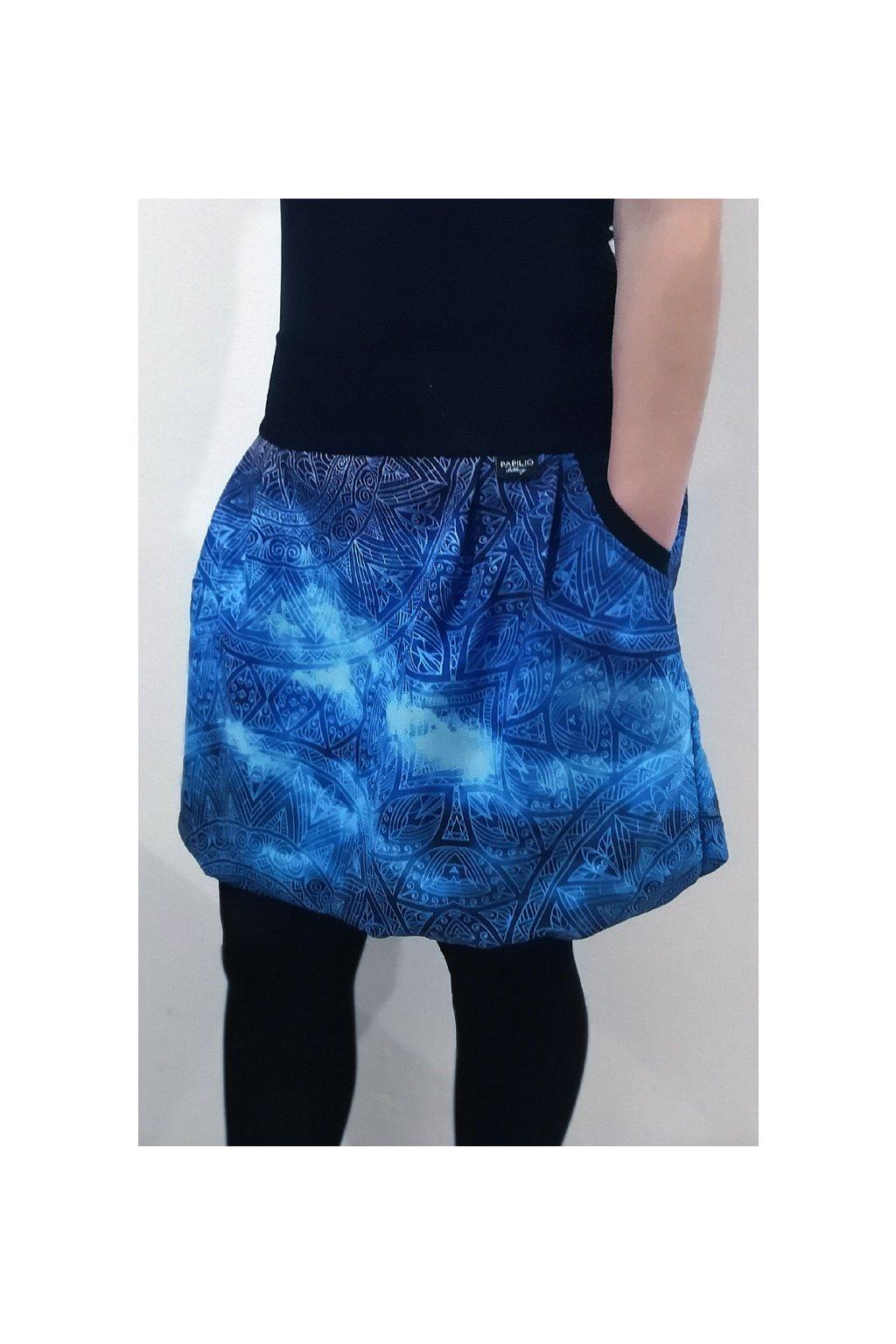 Balonová sukně Modrá mandala | micropeach