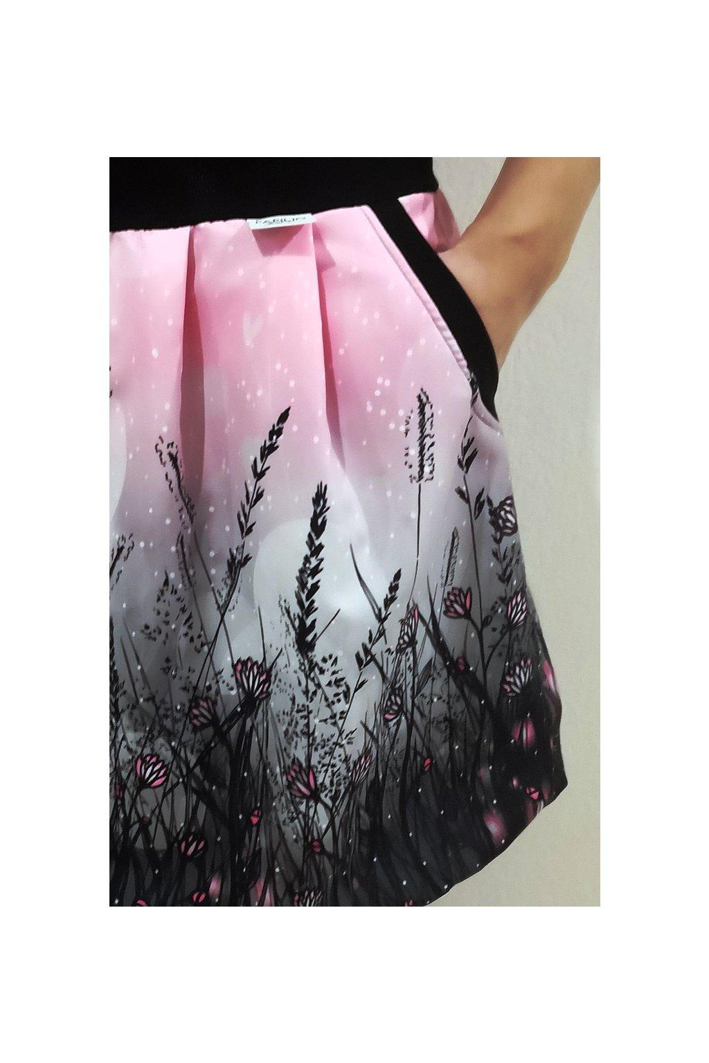 Jaro - růžová, velikost XS-S, délka 45 cm, přiznané kapsy | micropeach