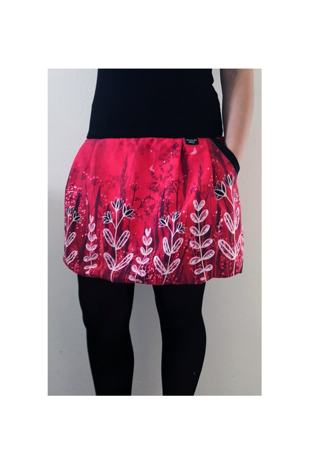 Balonová sukně Louka - červená | micropeach