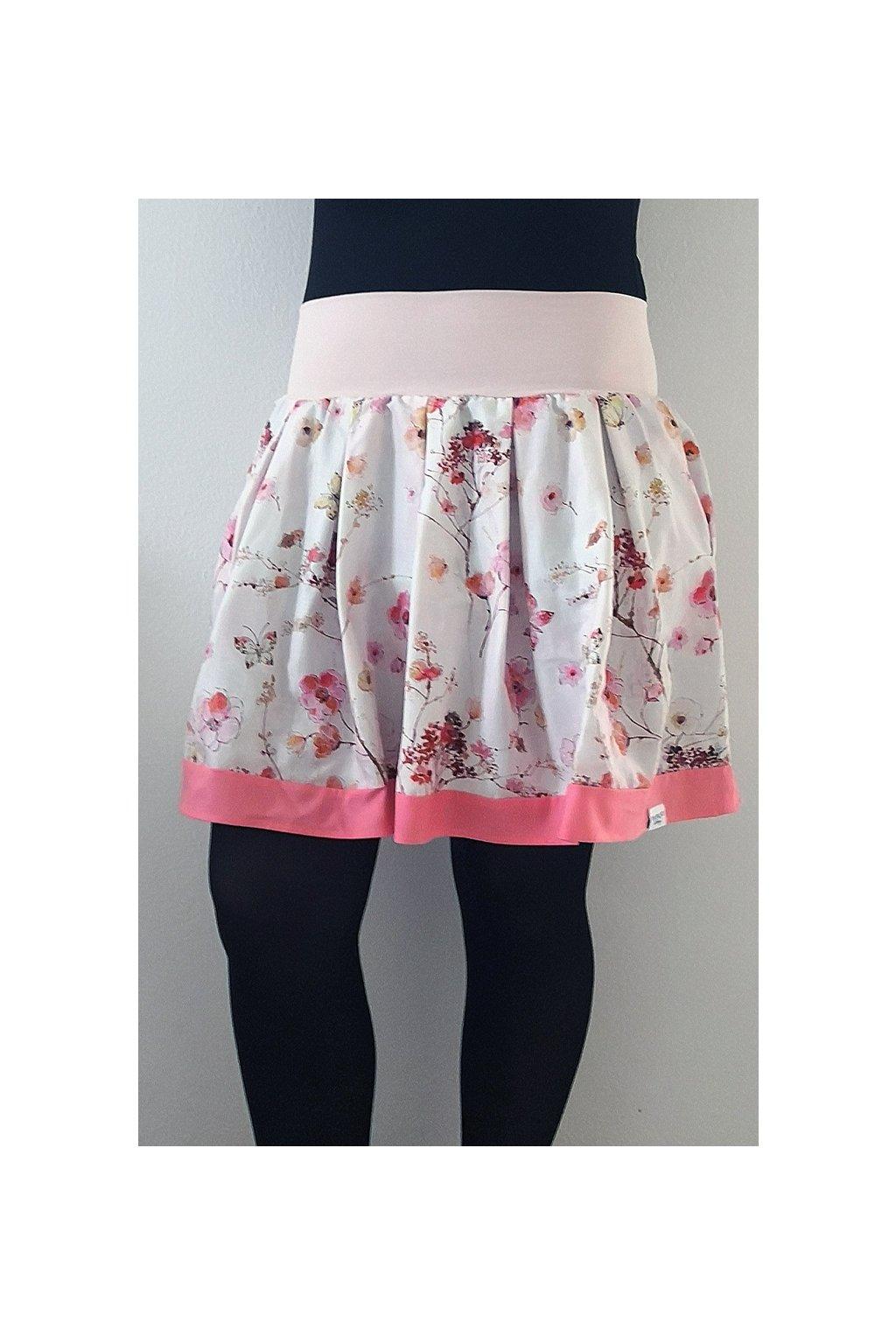 Skládaná sukně Květiny | micropeach