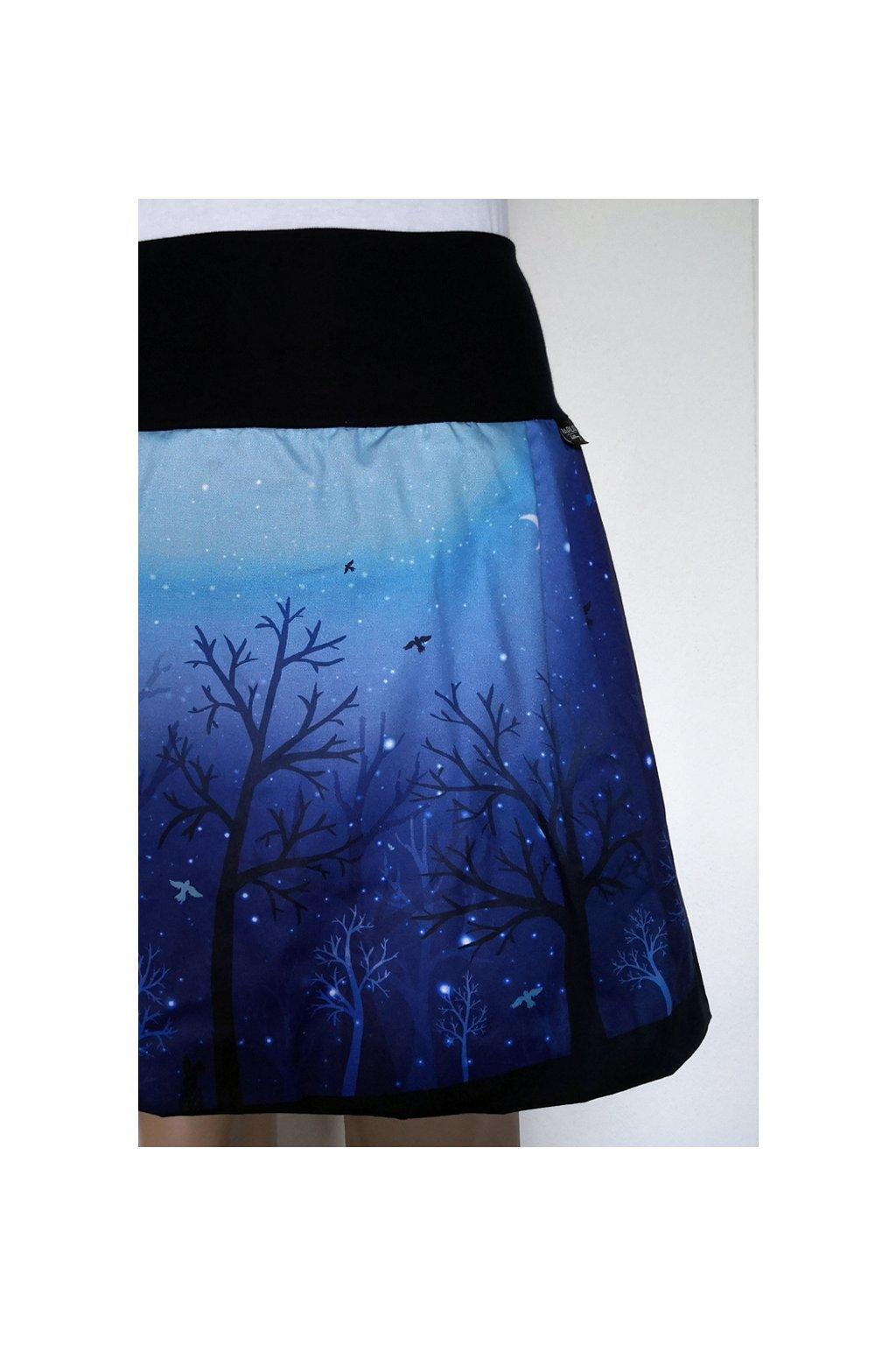 Balonová sukně Noc v lese | plátno