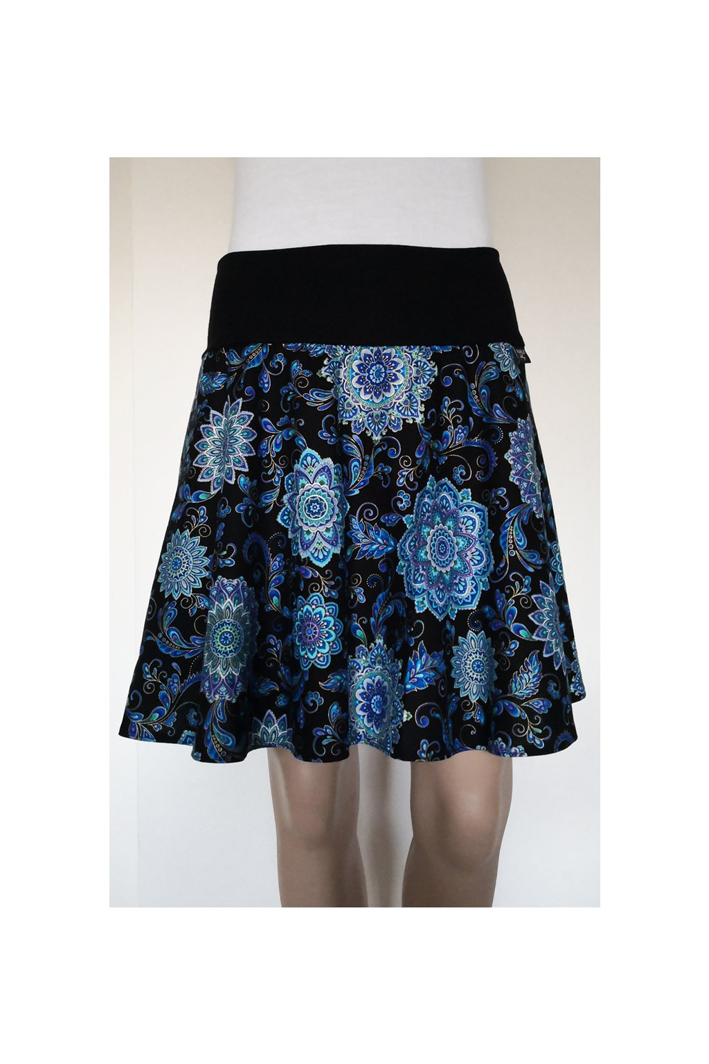 SKLADEM - Mandaly | půlkolová sukně | plátno