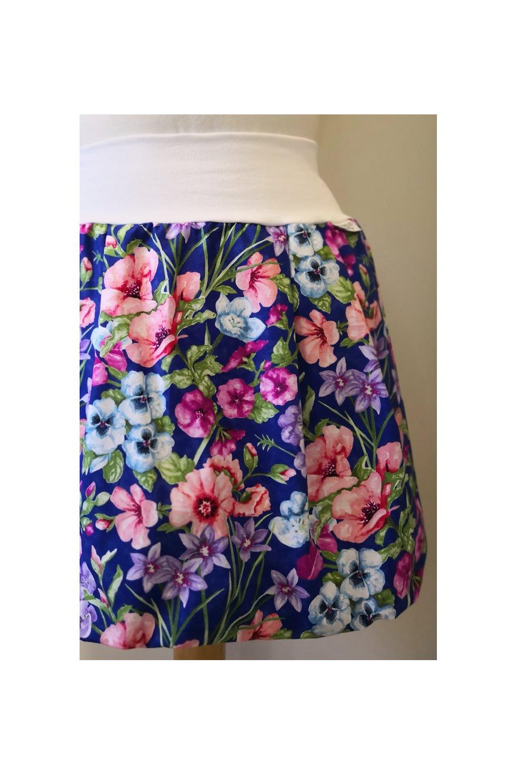 Balonová sukně Drobné květiny | plátno
