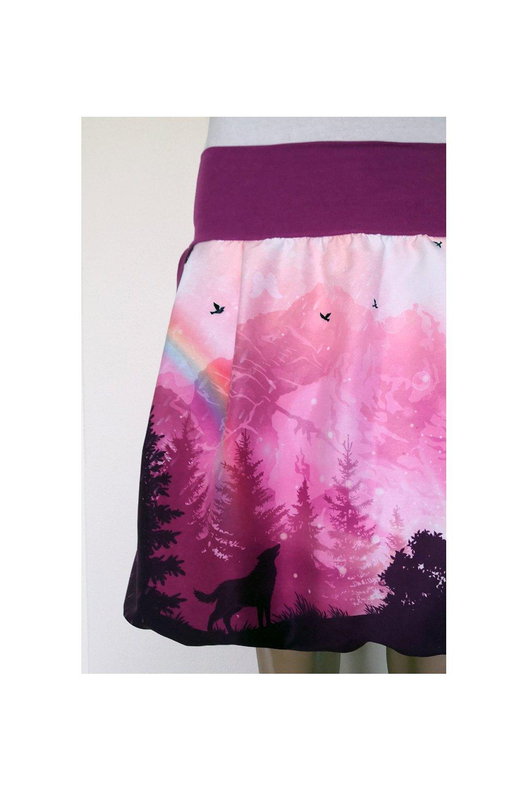 Balonová sukně Duhové hory (fialové) | micropeach