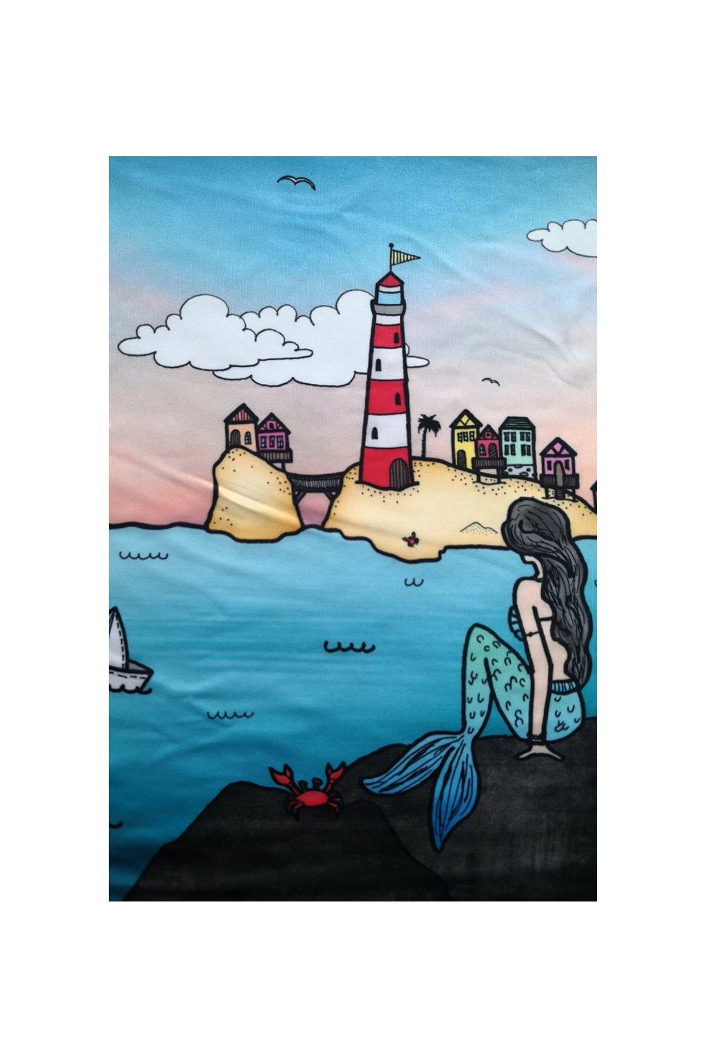 Sukně na míru Mořská panna | úplet