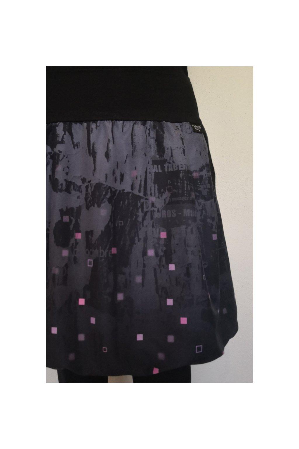 Balonová sukně Pixely růžové | micropeach