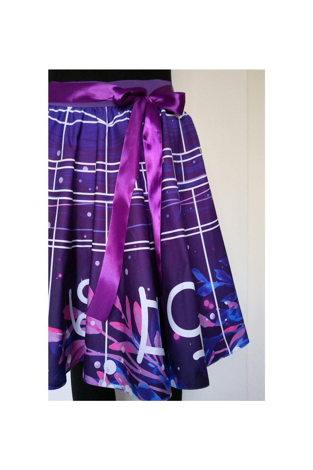 Kolová sukně Horoskopová | plátno