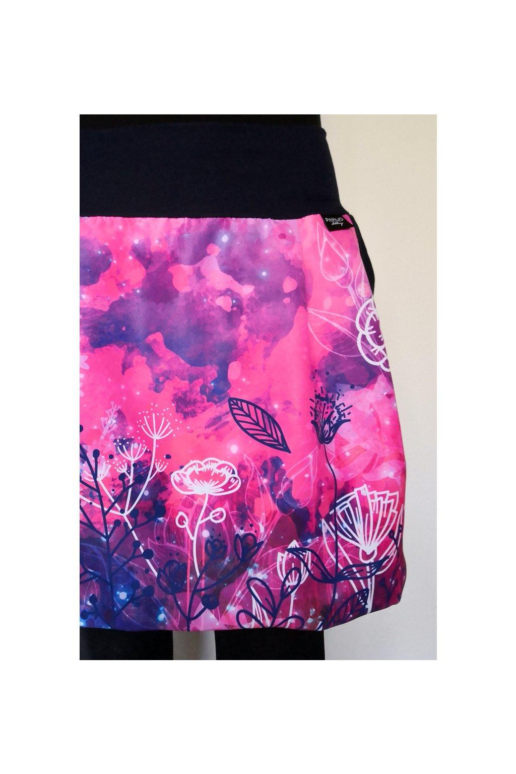 Balonová sukně Růžové květy | micropeach