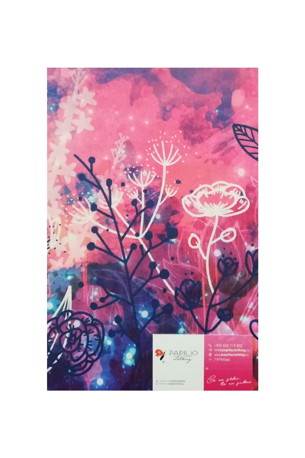 Sukně na míru Růžové květy | úplet