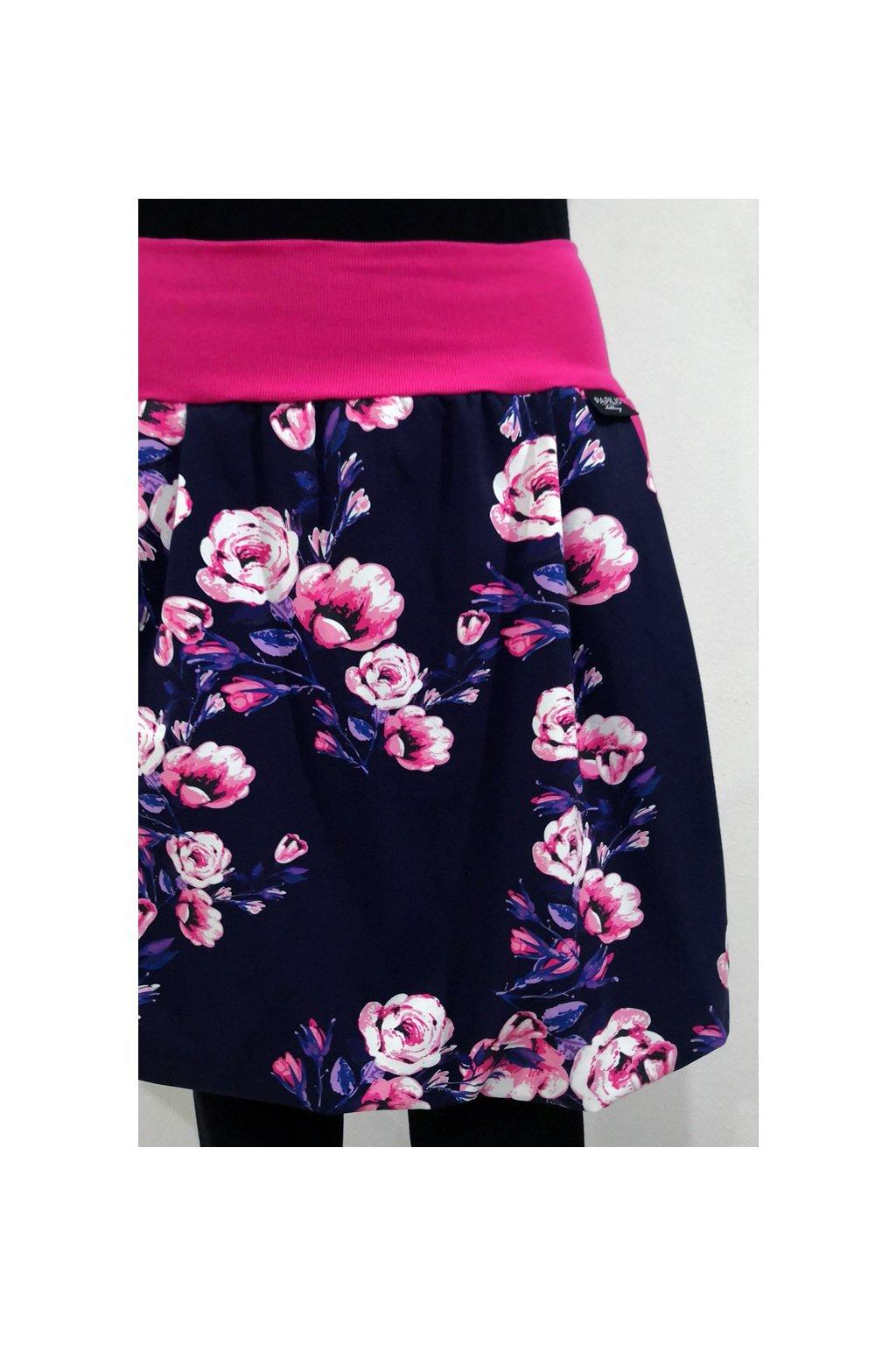 Balonová sukně Růže | úplet