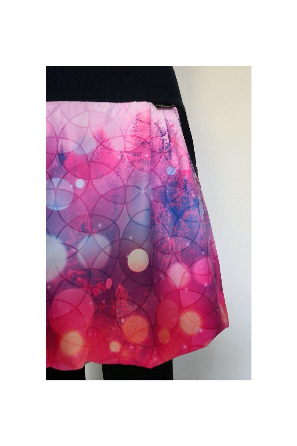 Balonová sukně V růžové mlze | micropeach
