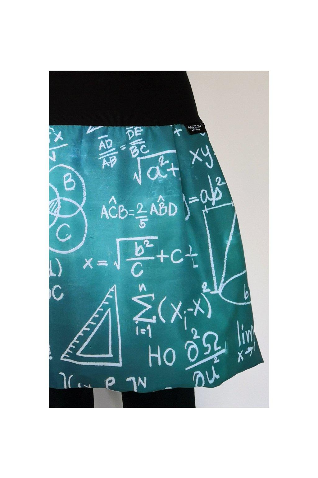 Balonová sukně Školní tabule, zelená | micropeach