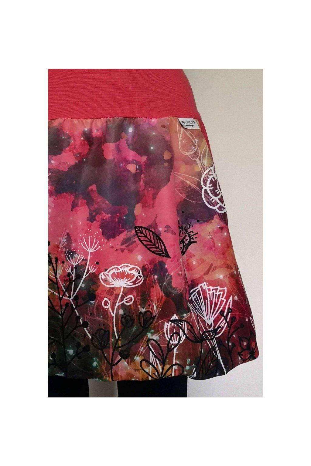 Balonová sukně Podzimní květy | micropeach