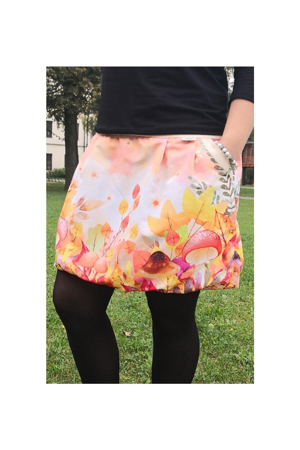 Balonová sukně Pod listím | micropeach