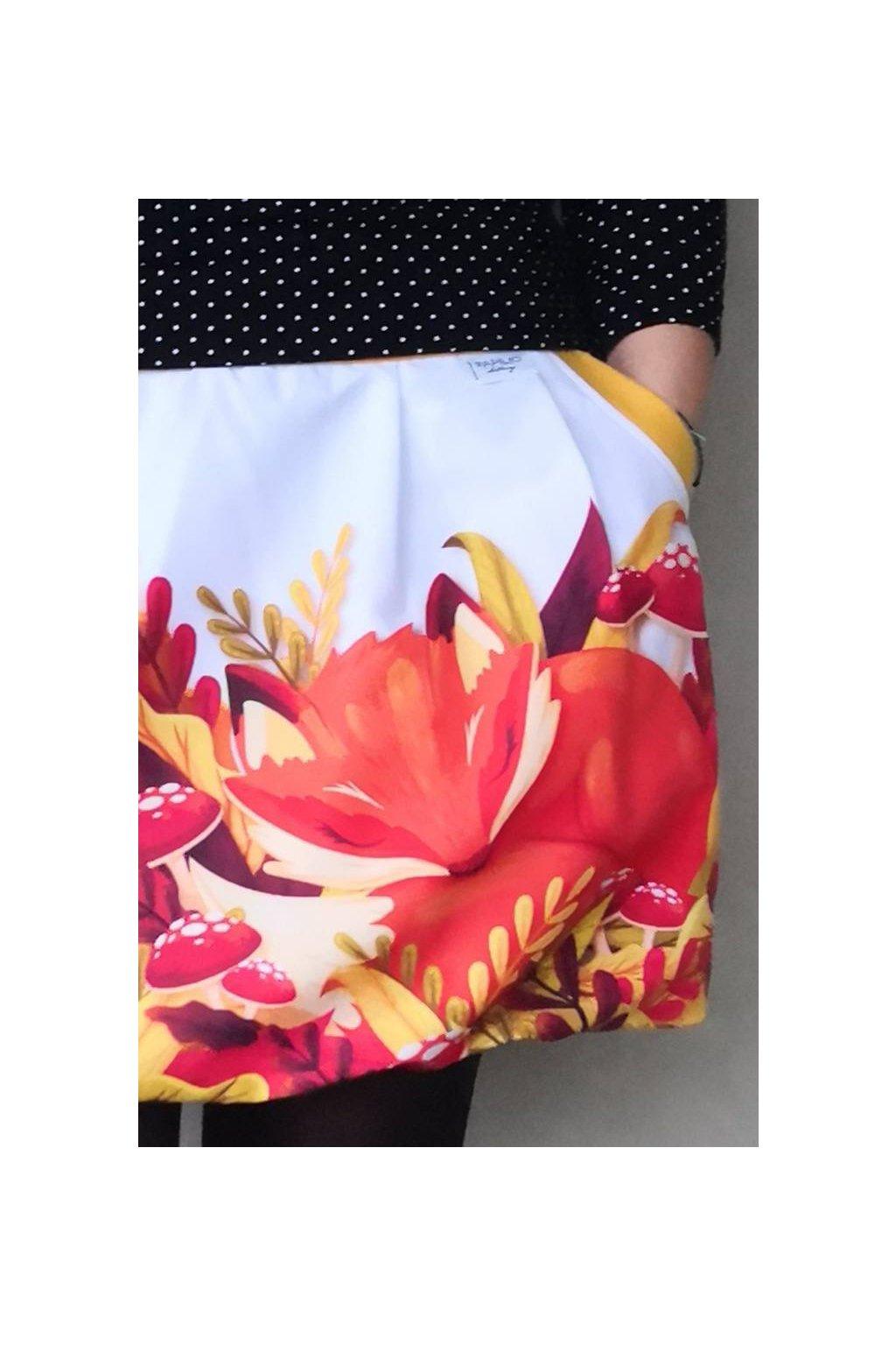Balonová sukně Podzimní spánek | micropeach