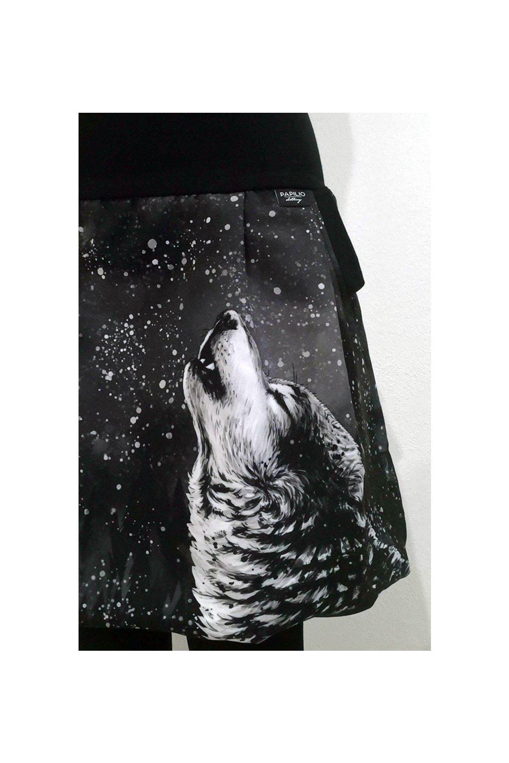 Balonová sukně Vlk samotář | micropeach