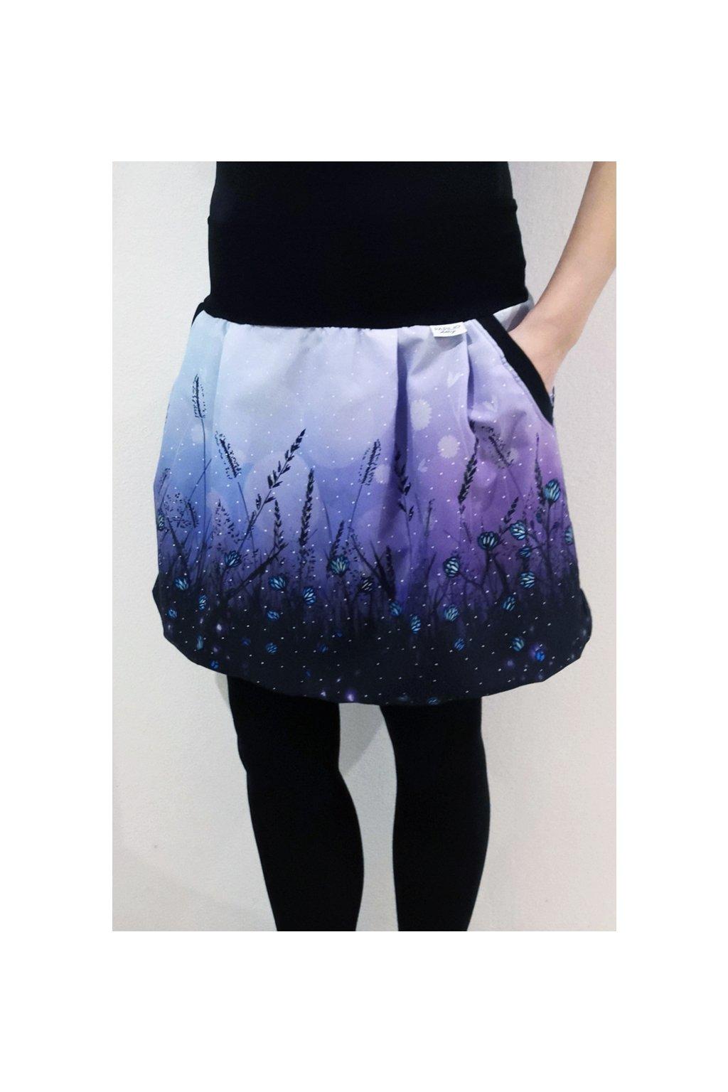 SKLADEM - Balonová sukně Jaro, fialová | micropeach