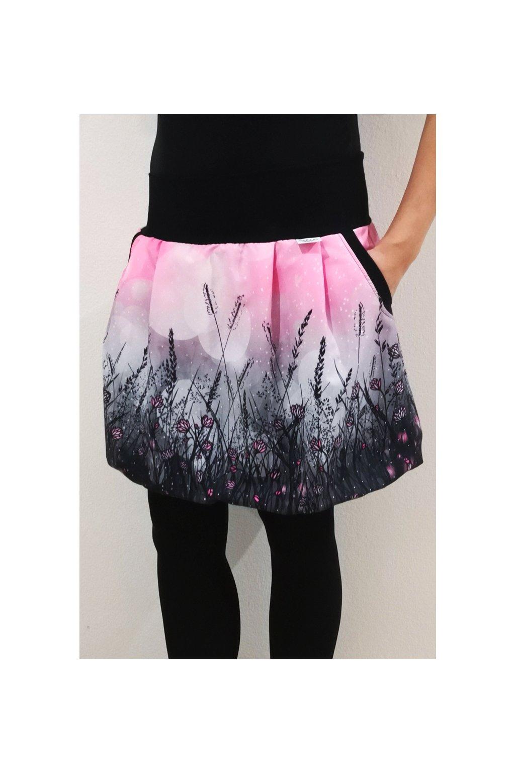 SKLADEM - Balonová sukně Jaro, růžová | micropeach