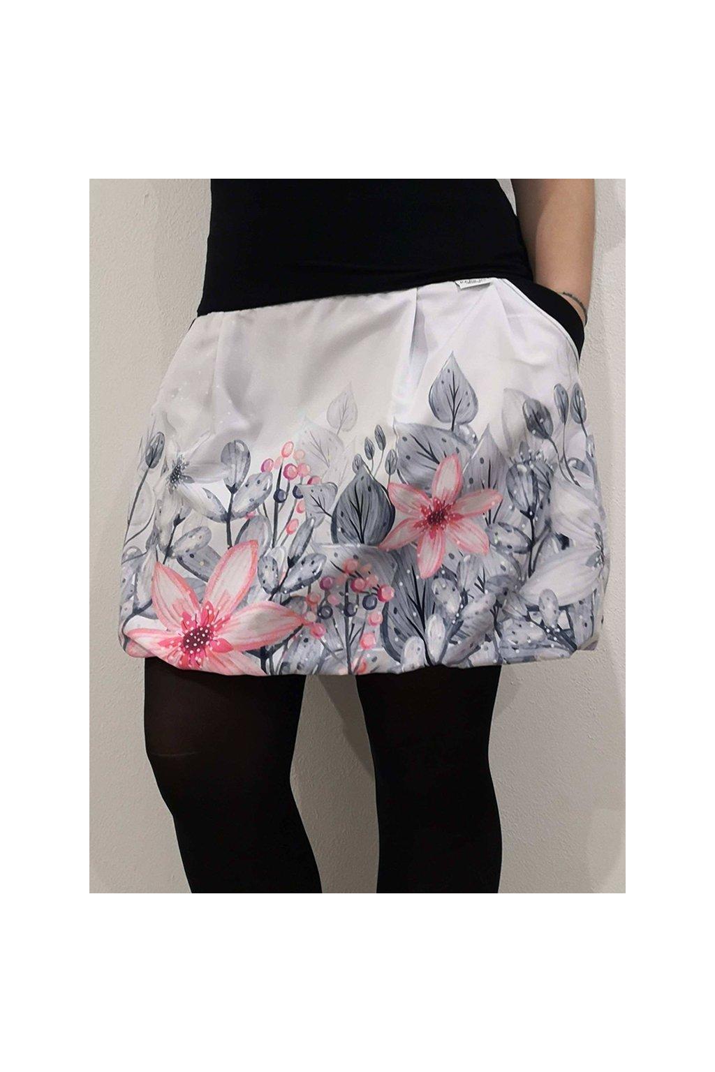 balonova sukne zimni kvety papilio clothing.cz