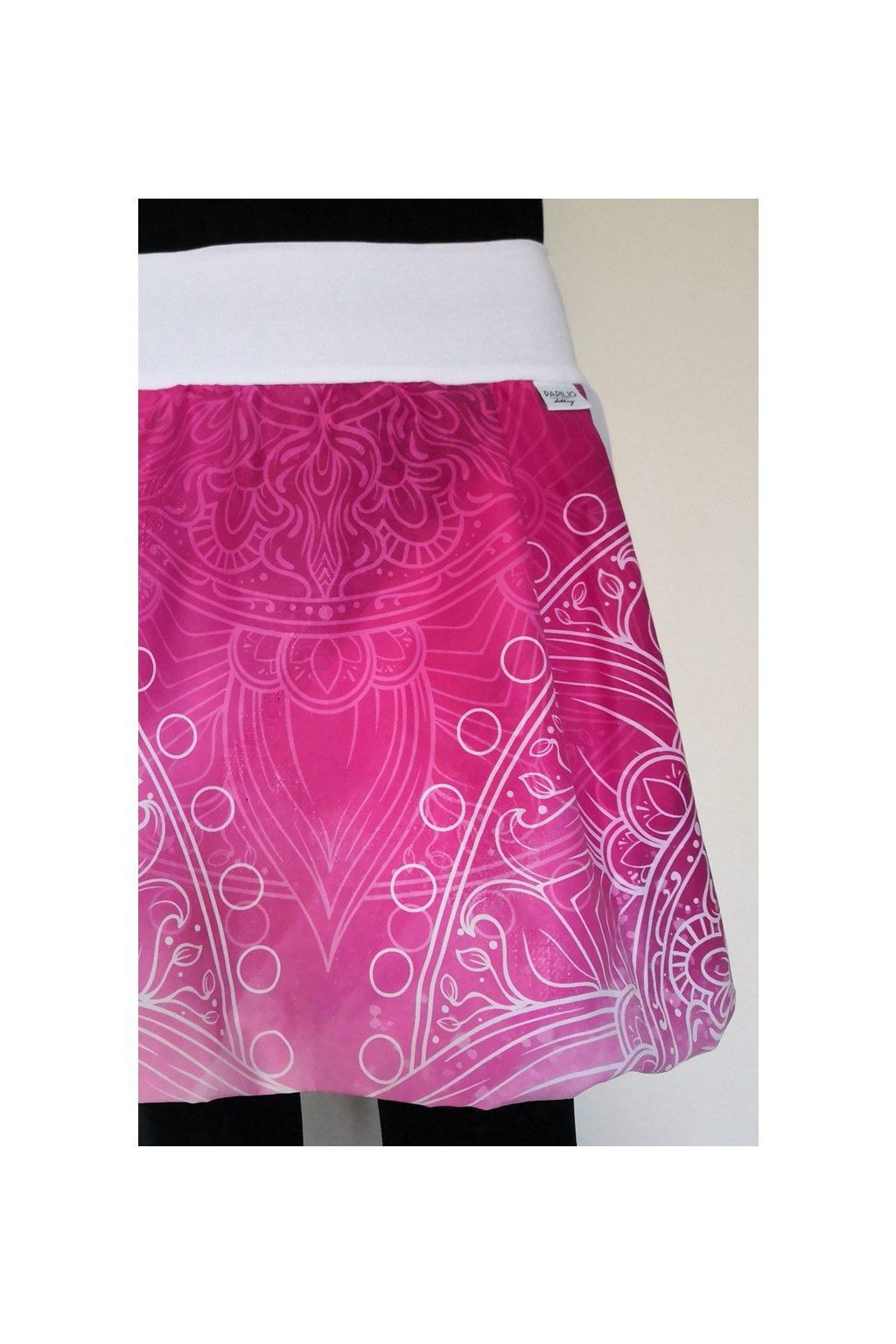 Balonová sukně Mandala růžová| micropeach