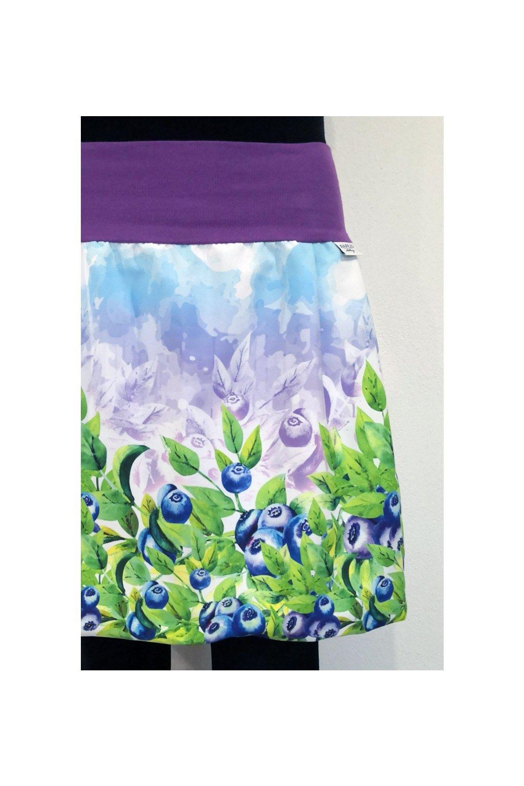 SKLADEM - balonová sukně Borůvky barevné | micropeach