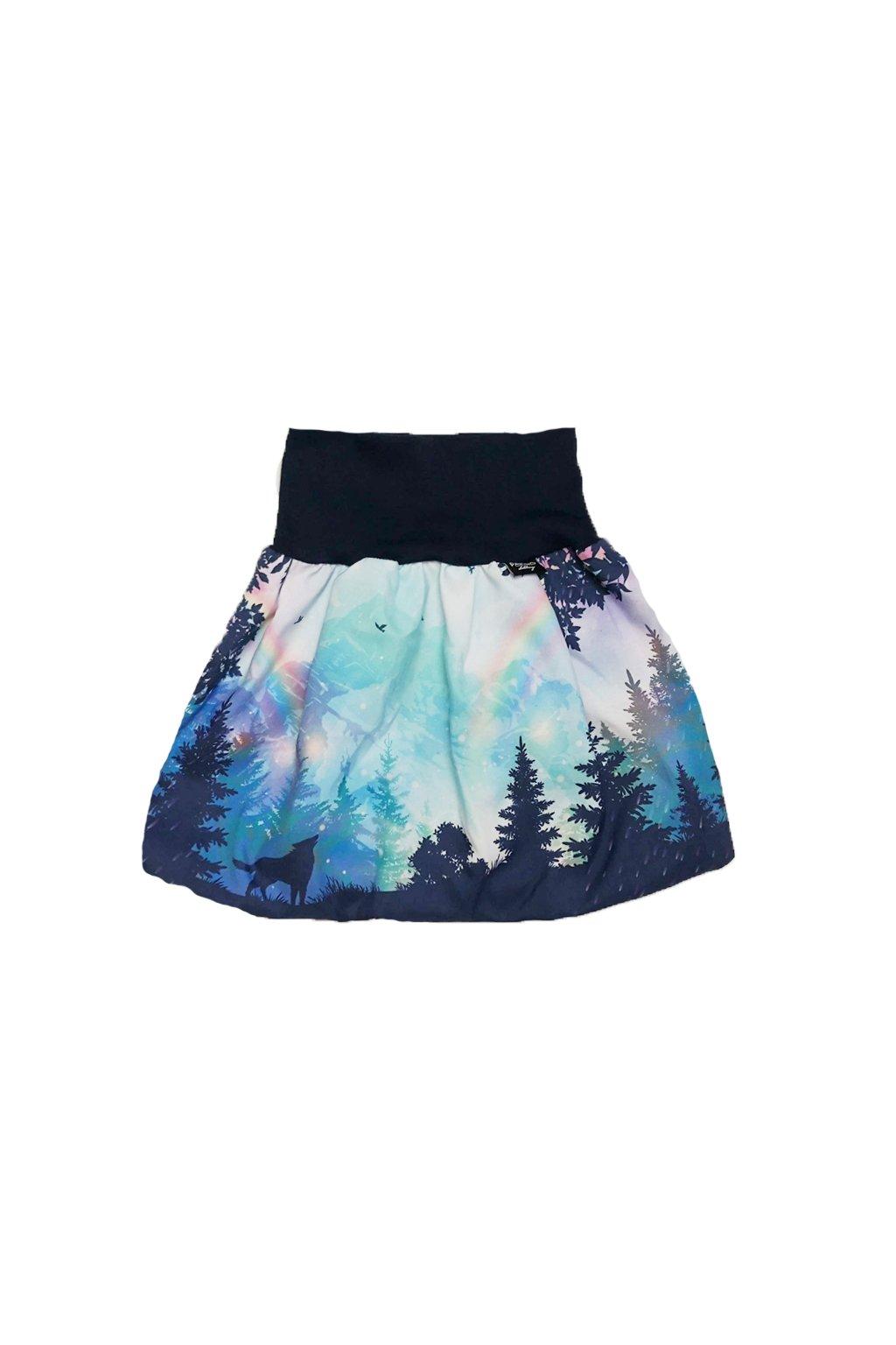divci balonova sukne duhove hory modre papilio clothing.cz