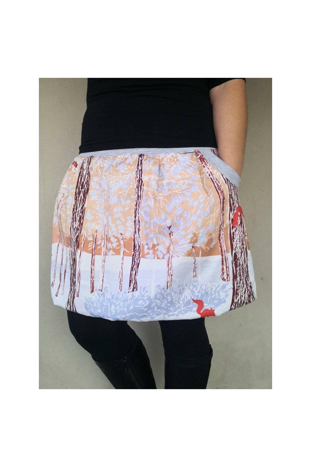 balonova sukne papilio clothing veverky