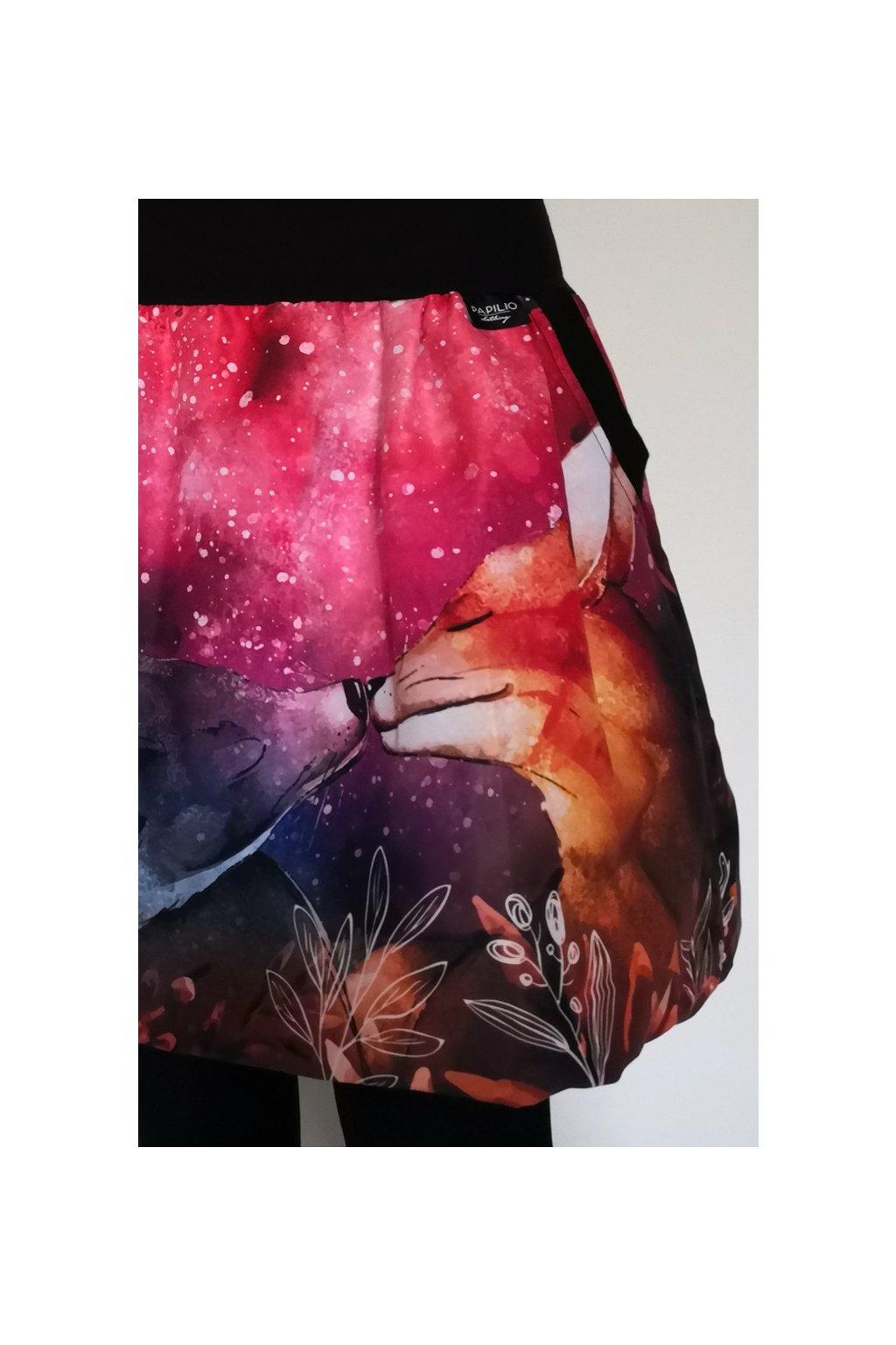 Balonová sukně Liščí polibek, podzimní | plátno