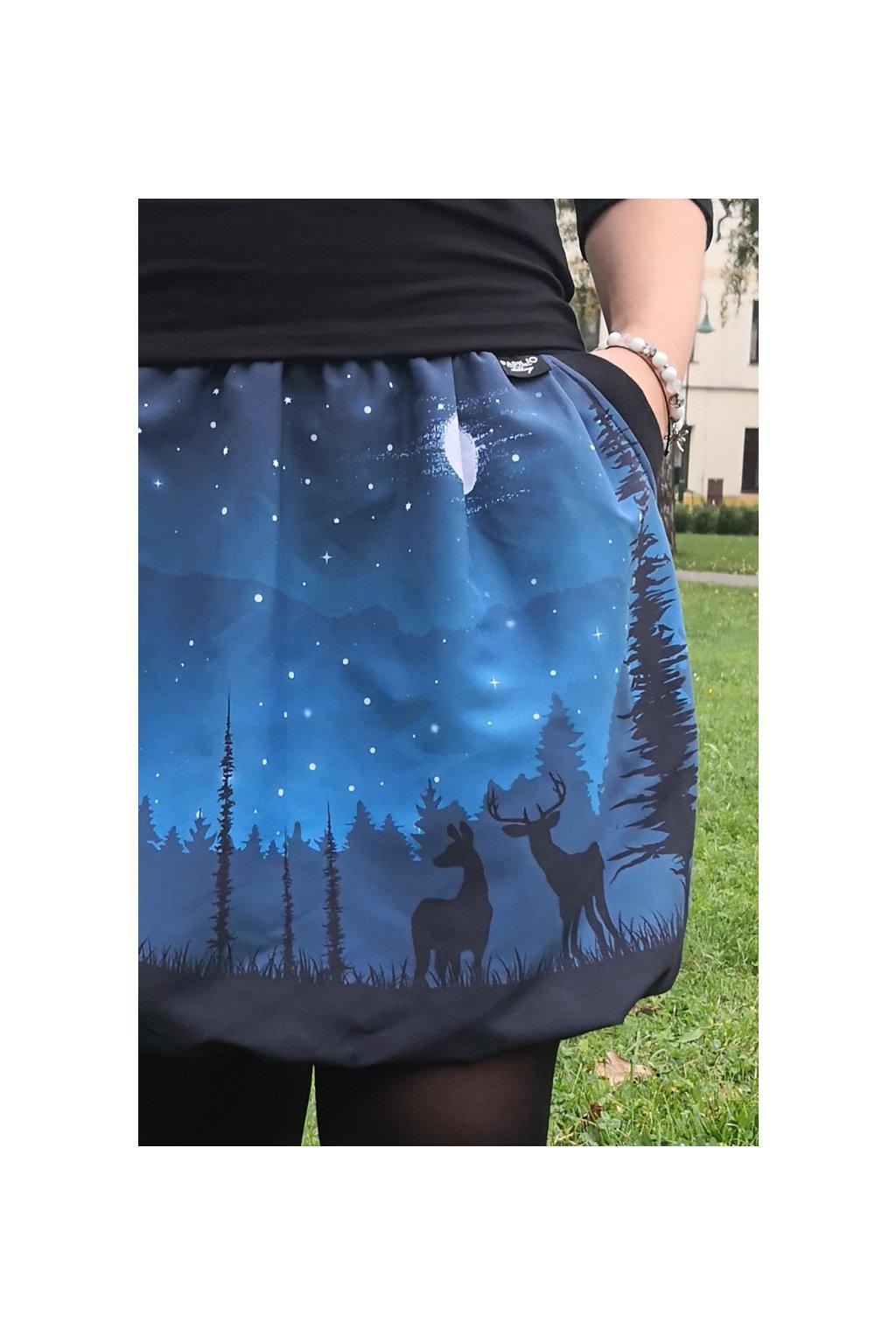 SKLAD - Balonová sukně Lesní zvěř | micropeach