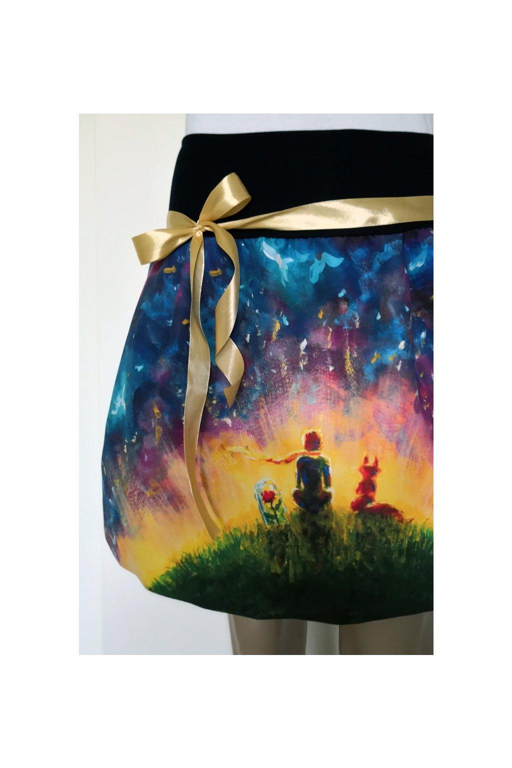 Dívčí balonová sukně Malý princ II. | micropeach