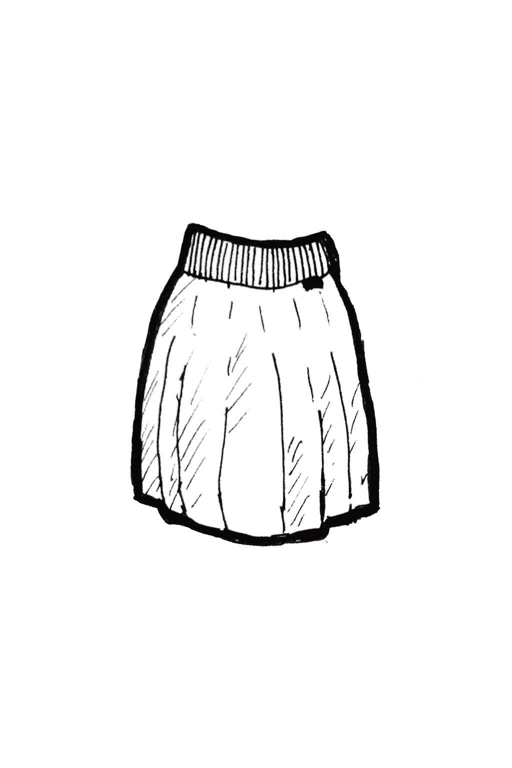 sukne se sklady