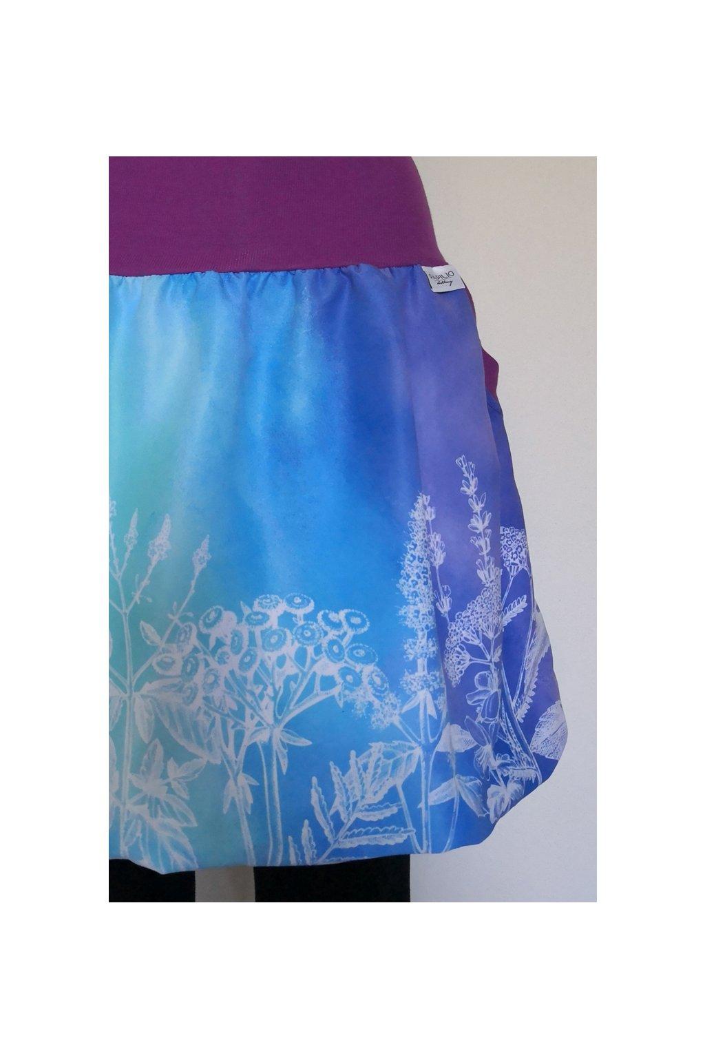 SKLADEM - balonová sukně Duhová bylinka| micropeach