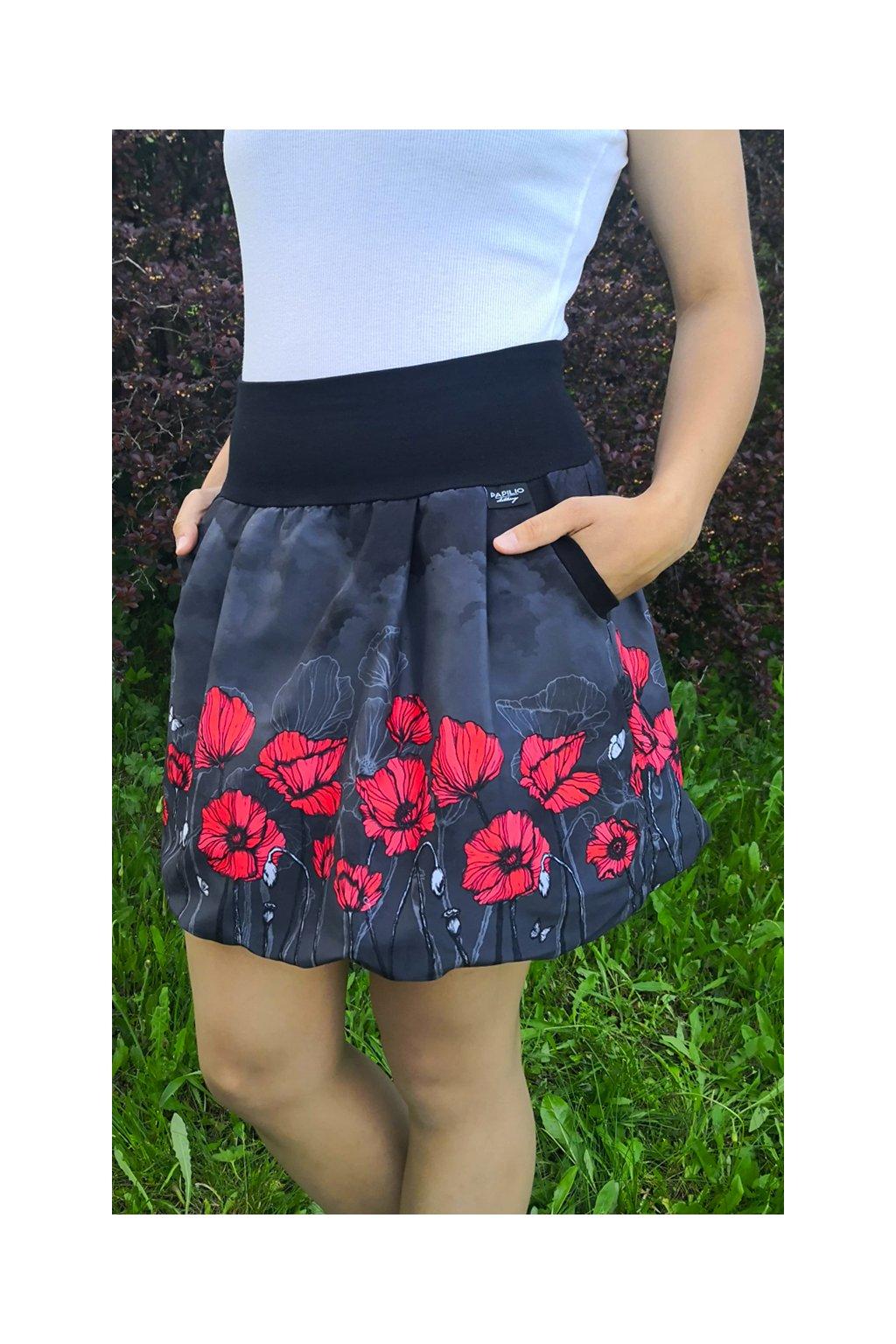 balonova sukne tmave rude maky papilio clothing 1