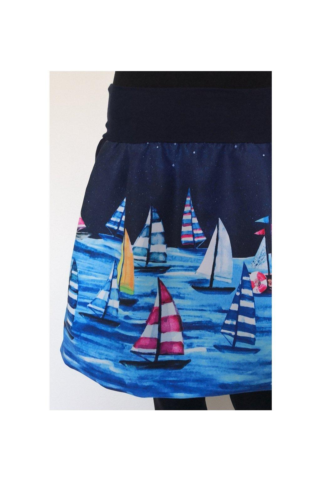 Balonová sukně Plachetnice II.   plátno
