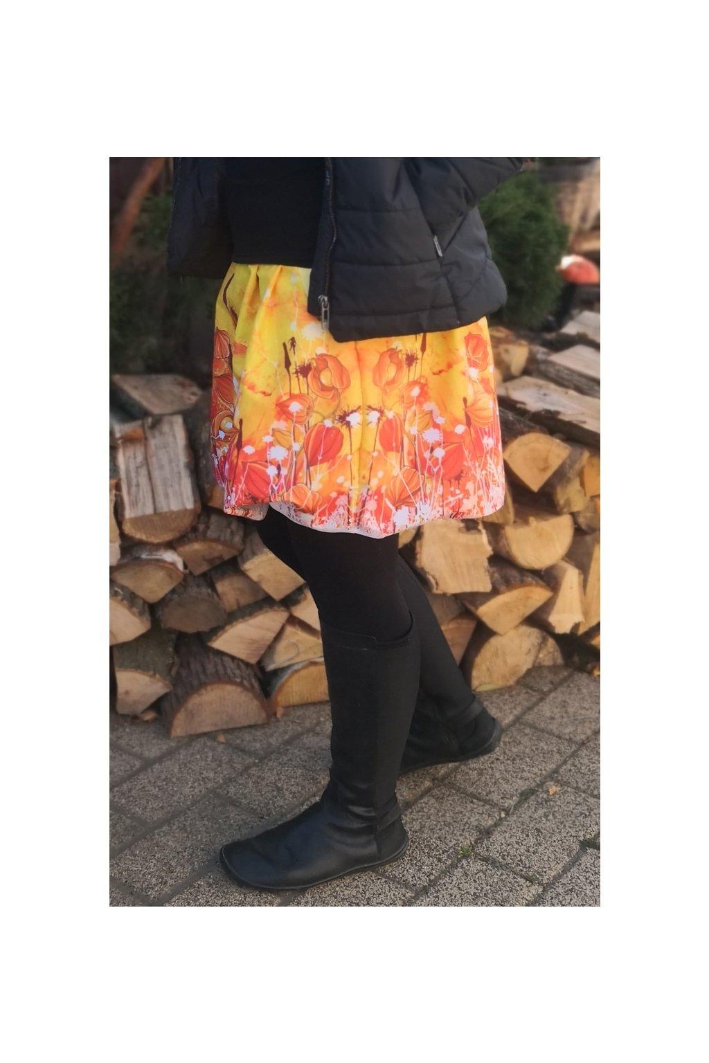 vyrp11 478balonova sukne mochyne na zlute papilio clothing