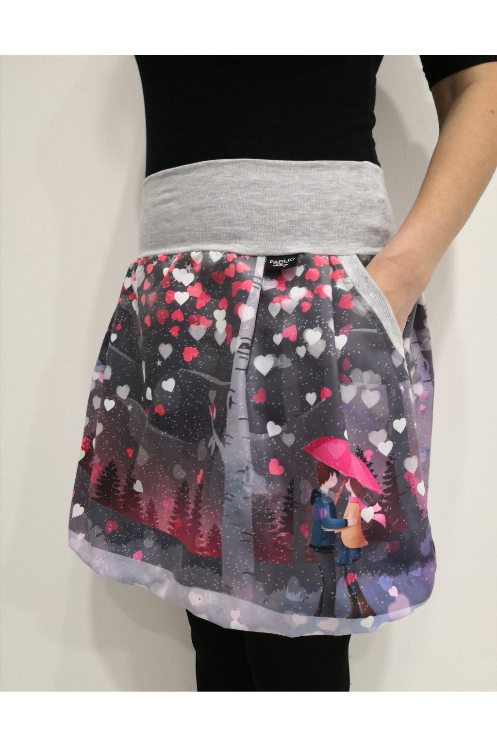 Dívčí balonová sukně Valentýnské setkání II. | micropeach