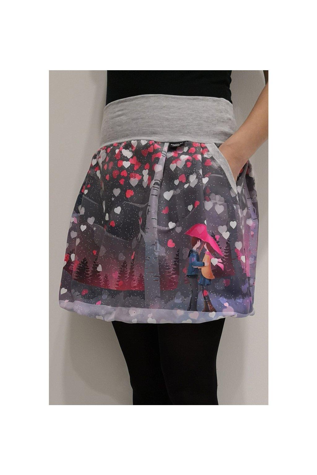 Balonová sukně Valentýnské setkání II. | plátno